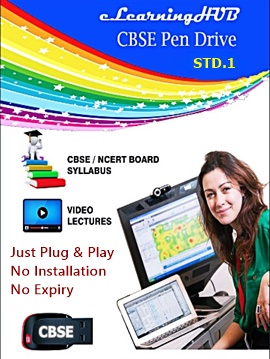 STD.1 Home E-Learning Pendrive for CBSE Students