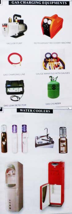 Gas Charging Equipments and Water Coolers