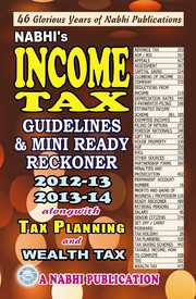 Income Tax Guidelines & Mini Ready Reckoner 2012-13 And 2013-14