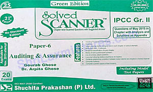IPCC Group II Paper 6 Auditing & Assurance Solved Scanner Green Edition
