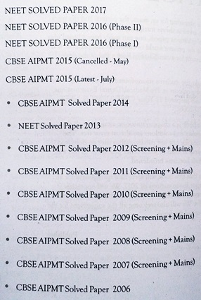 12 Years Solved Papers 2006-2017 NEET Physics-Chemsitry-Biology Book Preface