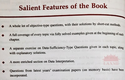 Quantitative Aptitude Book Salient Features ...