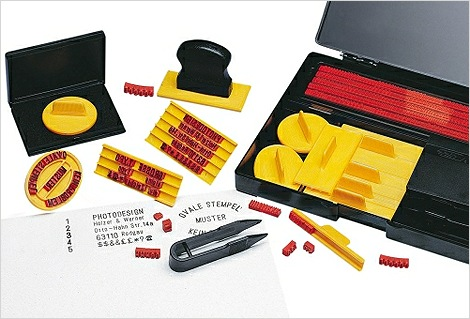 With This Kit You Can Make Your Own Rubber Stamps Instantly Whenever Need It