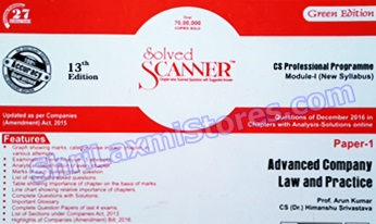 CS Solved Scanner for Professional Module 1 Paper 1 Advanced Company Law and Practice Green Edition