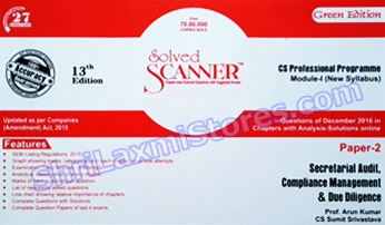 CS Solved Scanner for Professional Module 1 Paper 2 Secreterial Audit, Compliance Management and Due Diligence