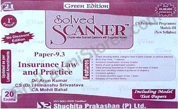 CS Solved Scanner for Professional Module III Paper 9.3 Insurance Law & Practice