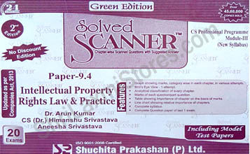 CS Solved Scanner for Professional Module III Paper 9.4 Intellectual Property Rights Law & Practice
