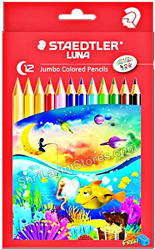 STAEDTLER  12 Luna JUMBO Colored Pencils Made In Germany