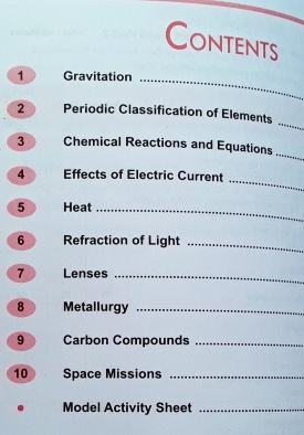 STD.10 Master Key Science-I Contents